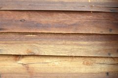 New brown wooden wall Royalty Free Stock Photos