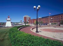 New Brunswick. St. John port and market royalty free stock photos