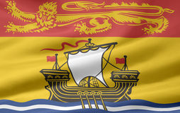 New Brunswick Flag. Very large version of a New Brunswick Flag Royalty Free Stock Photos