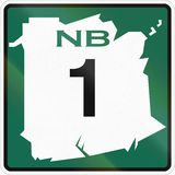 New Brunswick Highway Marker 1 Royalty Free Stock Images