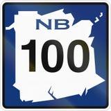 New Brunswick Highway Marker 100 Stock Images