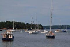 New Brunswick Saint Andrews marina west end Royalty Free Stock Photo