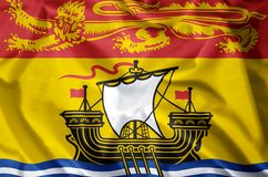 New Brunswick. Stylish waving and closeup flag illustration. Perfect for background or texture purposes royalty free illustration
