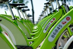 New Budapest bike hire called BUBI Royalty Free Stock Images