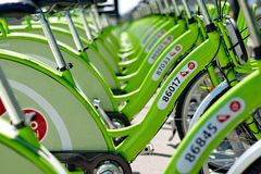 New Budapest bike hire system Royalty Free Stock Photography