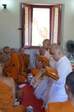 NEW BUDDHIST MONKs-June 29 Royalty Free Stock Photos