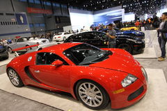 New Bugatti Veyron 16.4. At Chicago auto show 2014 Royalty Free Stock Images