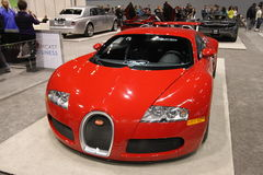 New Bugatti Veyron 16.4. New supercar Bugatti Veyron 16.4 at Chicago auto show 2014 Royalty Free Stock Photography