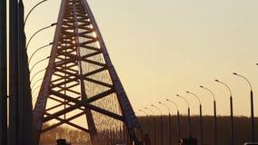 New Bugrinsky Bridge, Novosibirsk, Russia stock video