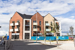 New Build - Apartment Block. An image of a brand new Apartment Block as part of a new development of Lawley Village  in Telford, Shropshire Stock Photo