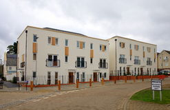 New Build Apartments in England Stock Images