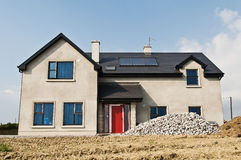 New build concrete house Stock Photo