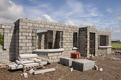 New build concrete stone House Stock Photo