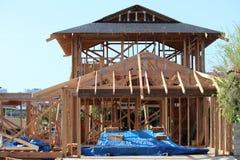 New build house. In progress Stock Photos