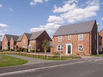 New build houses in Cheshire UK stock photo