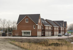 New build houses in holland Royalty Free Stock Photography