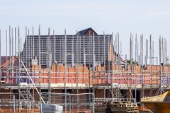Houses under construction in Cheshire UK Royalty Free Stock Photos