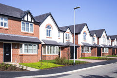 New build houses UK. Row of new build modern houses UK stock photography