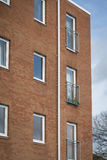 New build housing. New build small block of flats/appartments in suburban UK Stock Photos
