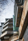 New build housing. New build small block of flats/appartments in suburban UK Royalty Free Stock Photos