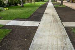 New Build Sidewalk Stock Photo