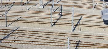 New build track layout Royalty Free Stock Photo