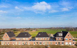 New builded  Dutch houses Stock Photography