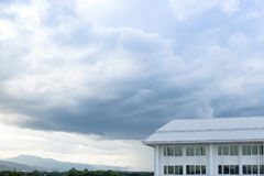 New building architecture on blue sky nature landscape background stock photos