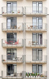 New building with balconies Stock Photo