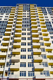 New building with balcony and windows heap, modern technology, Royalty Free Stock Photos