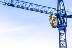 A New building is being constructed with use of tower crane Royalty Free Stock Images