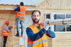New building built by carpenters Stock Image