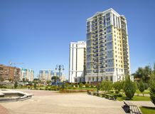 New building in the city of Astrakhan. Royalty Free Stock Photography