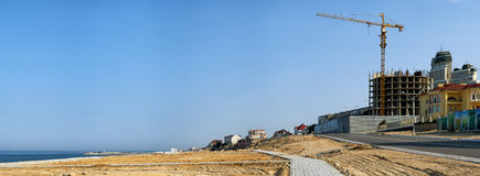 New building construction in Aktau Royalty Free Stock Images