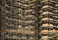 New Building Construction Scaffolding Stock Images