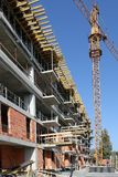 New building construction site with crane Stock Image