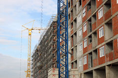 New building construction site Stock Image