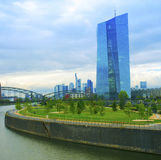 The new building of the European Central Bank in Frankfurt am Main Stock Photos