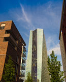 The new building of the European Central Bank Headquarters, ECB, Royalty Free Stock Photos
