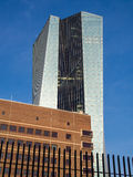 The new building of the European Central Bank Headquarters, ECB, Stock Image