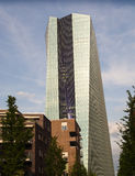 The new building of the European Central Bank Headquarters, Frankfurt Stock Photo