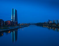 The new building of the European Central Bank Headquarters, Frankfurt Stock Images