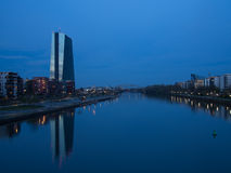 The new building of the European Central Bank Headquarters, Frankfurt Royalty Free Stock Image