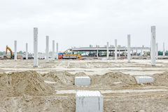 New building foundation construction Royalty Free Stock Photo