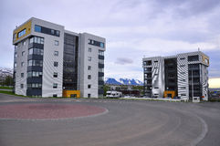 New building in Iceland Royalty Free Stock Images