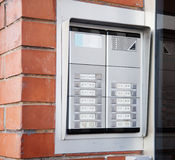 New building intercom Royalty Free Stock Photo