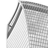 New building in london skyscraper      financial district and wi Royalty Free Stock Photography