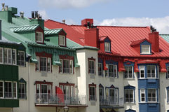 New building in Mont Tremblant in Quebec Stock Photo