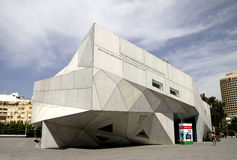 The new building of the Museum of Art in Tel Aviv. Origami Style Stock Images