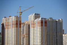 New building new building constructing in process Royalty Free Stock Photo
